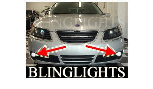Amazon BlingLights 2006 2009 SAAB 9 5 SPORTCOMBI 23T AERO LED XENON FOG LIGHTS Driving Lamps 2007 2008 Automotive