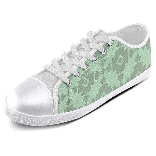 Green Mint Shoes Pattern Tile For Men Model016 Custom Artsadd Geometric Canvas A5xq0WEEw6