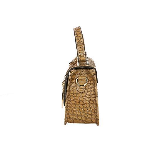 main en Made in cm Pochette Italy Petit à Borse Boue Sac cuir véritable Chicca 20x15x8 xwfZIYqFSn