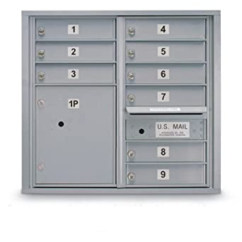 Amazon.com: postalproducts n1029451slvr 9 Puerta Standard 4 ...
