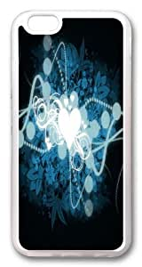 iPhone 6 plus Case, iPhone 6 plus Cases -Heart Shaped Universe Widescreen TPU Rubber Soft Case Back Cover for iphone 6 plus 5.5 inch Transparent