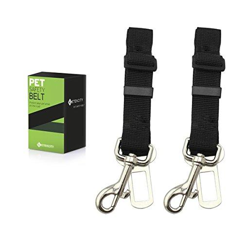 Etekcity 2-Pack Pet Car Seat Belt Nylon Material 16-26in Adjustable