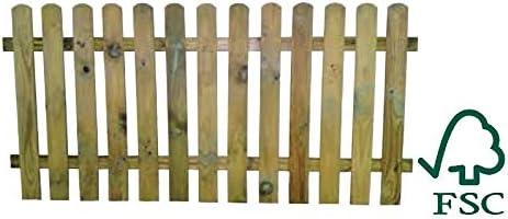 ITALFROM Steccato in Legno con Doghe di Pino Dimensioni: L