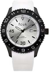 FCUK Men's FC1094BW Plastic White Rubber Watch