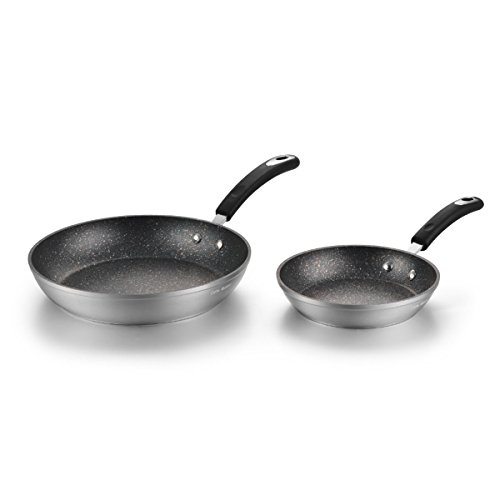 Stainless Steel Nonstick Cookware Set with Induction Bottom,Soft-touch Silicone Handle,Silver (8 &10 inch) Review