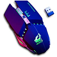 NEWEVER Wireless Gaming Mouse with USB Receiver, 8 Quiet Click Buttons, 3 Adjustable DPI, RGB Multi-Colour Backlit Game…