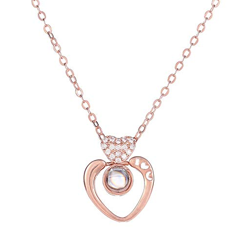 - Clearance! Hot Sale! ❤ New 100 Languages I Love You Valentine's Day Present Memory Projection Necklace Under 5 Dollars Valentine's Day Gifts for Girlfriend