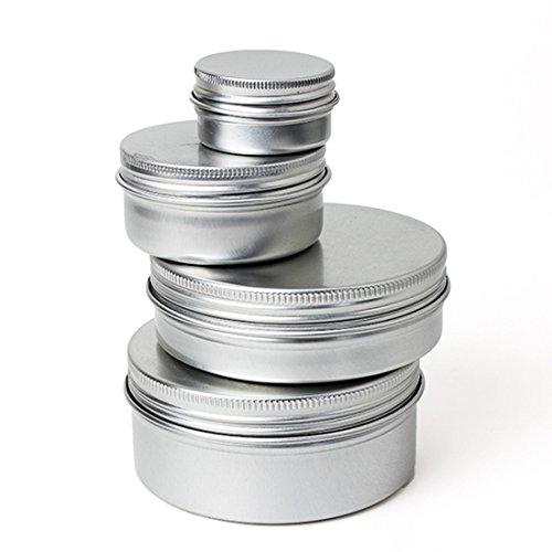 KING DO WAY 5 x Leere Kosmetik Pot Lip Balm Tin Jar Container Schraubdeckel 150ml