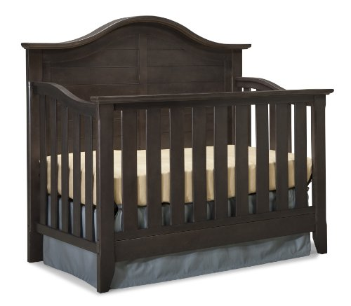 Convertible Crib Wood (Thomasville Kids Southern Dunes Lifestyle 4-in-1 Convertible Crib, Espresso, Easily Converts to Toddler Bed Day Bed or Full Bed, Three Position Adjustable Height Mattress (Mattress Not Included))