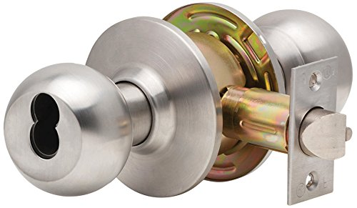 2 3//4 Backset 2 3//4 Backset Allegion Dexter Commercial Hardware C2000-STRM-B-613-SFIC Grade2 Storeroom Cylindrical Lock with Ball Knob Trim Oil Rubbed Dark Bronze