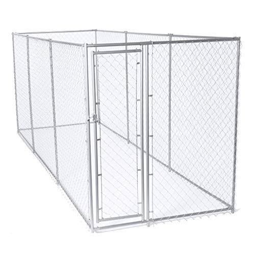- Lucky Dog 10 x 10 Ft. Heavy Duty Outdoor Chain Link Dog Kennel Enclosure w/Door (2 Pack)