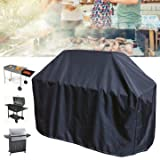 Rainproof Underwrite - 163x61x122cm Black Bbq Grill Barbecue Waterproof Cover Yard Outdoor Cooking Protector - Cut Concealment Natural Covering Pass Tight Hide Spread Wrap - 1PCs