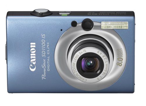Canon PowerShot SD1100IS 8MP Digital Camera with 3x Optical Image Stabilized Zoom (Blue) (OLD - Zoom Inch 2.5 Lcd Monitor