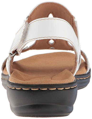 outlet cheapest price cheap clearance CLARKS Women's Leisa Lakelyn Flat Sandal White Leather xUPvLUa