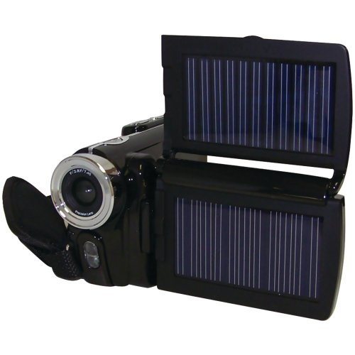 Cobra Digital HDVC6000 SOLAR 12 MP HD Digital Video Camera and  3.0-Inch LTPS Display HDVC6000