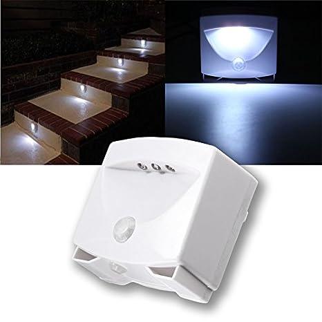 SOLMORE Lámpara LED Sensor Luz nocturna sensor infrarrojo de humano movimiento PIR iluminación pasillo armario garaje