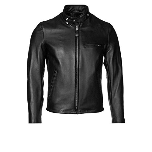 New Fashion Style Men's Leather Jackets Motorcycle Bomber Biker (Black)