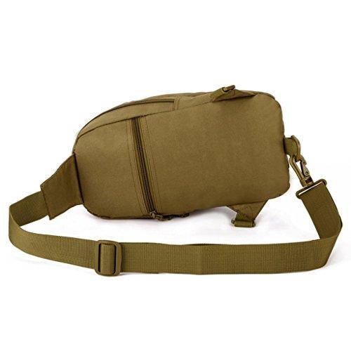 cinmaul táctica militar Mochila de hombro cintura bolsa de deporte Rover Sling Cuerda Senderismo Bolso de caza, hombre, Desert Camouflage Marrón (Coyote Brown)