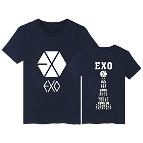 Shirt Cotone Donna Uomo Shirt in Vestiti Casual Coppia Taglie 4 EXO Manica Corta Fans T Forti Exo KPOP Harajuku t sostenitiva Adolescenti wSFqf06x