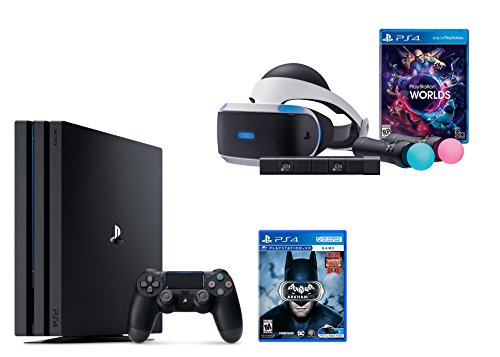 PlayStation VR Launch Bundle 3 Items:VR Launch Bundle,PlayStation 4 Pro 1TB,VR Game Disc Arkham VR