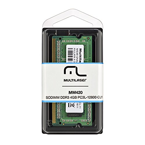 Memória Notebook DDR3 - 4GB / 1.600MHz - Multilaser - MM420