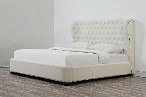 Finley Headboard - Tov Furniture Finley Linen Bed, King, Beige