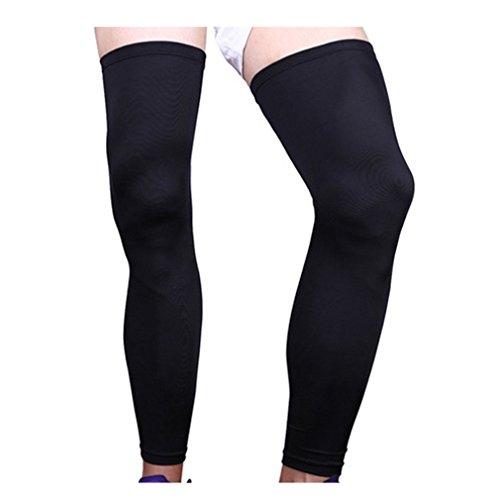 1 Pcs Leg Warmer Knee Running Basketball Lengthened Leggings Outdoor Legs Black - One Pro Derby Insert