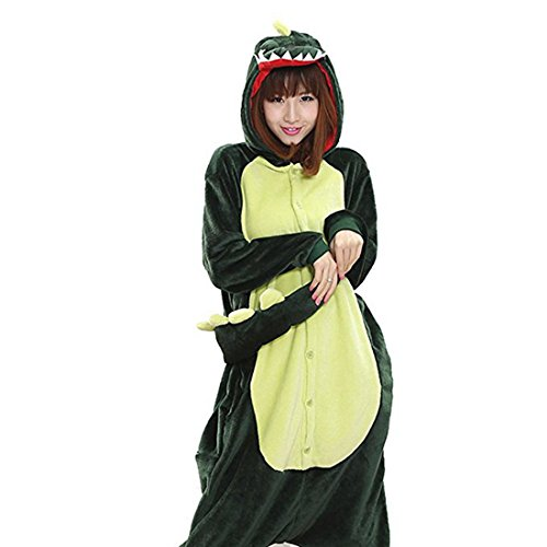 Aoibox Unisex Adult Green and Dinosaur Animal Cosplay