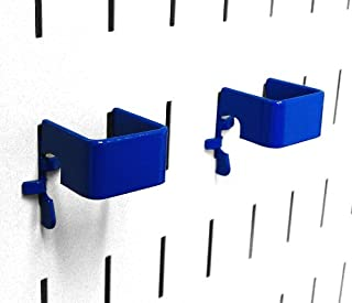 product image for Wall Control Pegboard 1in x 1in C-Bracket Slotted Metal Pegboard Hook for Wall Control Pegboard and Slotted Tool Board – Blue
