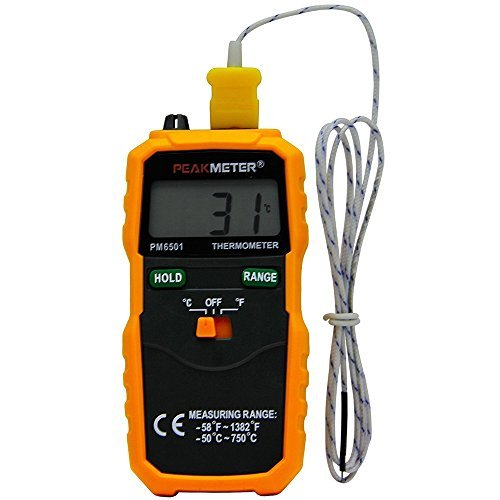 PM6501 K type Digital Thermometer -58℉~1382℉ Temperature Meter with Type K Thermocouple Sensor Probe by PROTMEX
