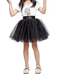 Little Girl Tutu Skirt A Line 7 Layers Tulle Skirt Party Princess Dance Tutu Dress (3T -10T)