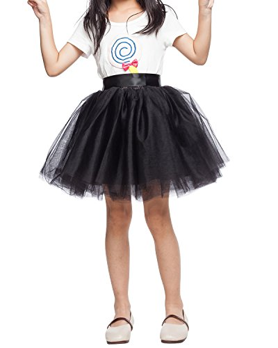 Little Girl Tutu Skirt A Line 7 Layers Tulle Skirt Party Princess Dance Tutu Dress (3T -10T)