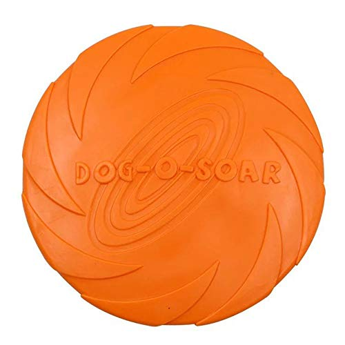 WIEZ Dog Frisbee Toy,Dog Trainer,Floating Water Dog Toy,Flying Disc,1pcs (Orange)