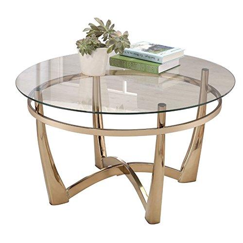 Acme Furniture 81610 Orlando II Coffee Table, Champagne/Clea