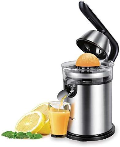 OOPP Naranja del limón de Acero Inoxidable 300W eléctrica exprimidor de cítricos Mango de Aluminio Set -Casting Familia de fundición de Baja Potencia