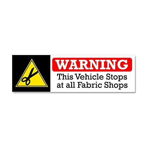 (CafePress Fabric Shops Warning Car Magnet 10 x 3, Magnetic Bumper Sticker)