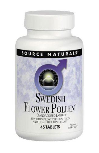 Source Naturals Swedish Flower Pollen, Supports Prostate Function and Healthy Urine Flow, 45 Tablets