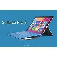 Microsoft Surface Pro 3 64GB Plus Cyan Type Keyboard Bundle (Windows 8.1 Pro, 12-Inch Touchscreen, WiFi, 1.5GHz Intel i3, 4GB Ram)