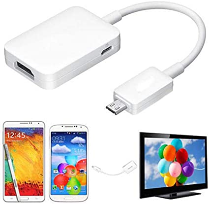 Micro USB 2.0 to HDMI HDTV Adapter Cable Compatible for Samsung Galaxy S3 S4 S5 Note 2 Note3-Supports 1080P