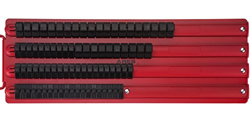 80pc Socket Organizer | ARES 70177 |1/4-Inch, 3/8-Inch, 1/2-Inch Drive Socket Rails Hold 80 Sockets and Keep Your Tool Box Organized (Socket Toolbox Organizer)