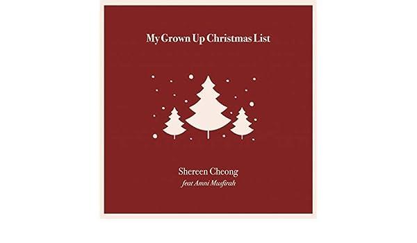 Amazon. Com: my grown up christmas list: tune robbers: mp3 downloads.