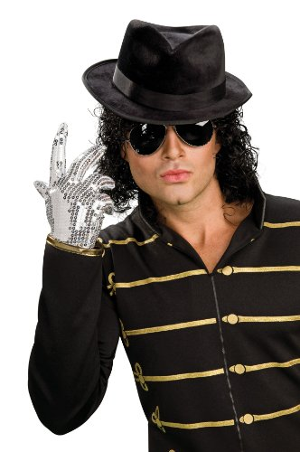 Michael Jackson Adult Silver Sequin Glove