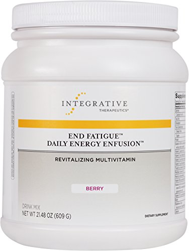 Integrative Therapeutics - End Fatigue Daily Energy Enfusion - Revitalizing Multivitamin - Berry Flavor Drink Mix - 21.48 Ounce by Integrative Therapeutics