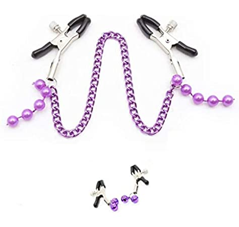 Adjustable Stainless Steel Faux Jewelry Screw Clip on Body Piercing Rings Nippl/é Clamps with Metal Chain for Party ULL6Z