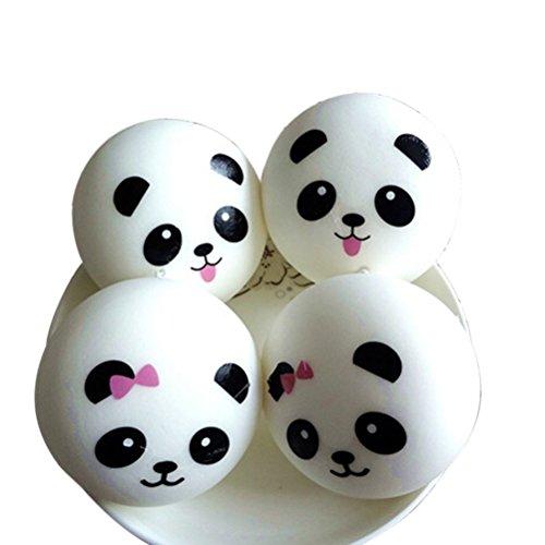 Panda Bun Squishy Mini : 7PCS Random Squishy Kawaii Mini Squishies Slow Rising Soft Panda Bread Bun Toasts Donuts Jumbo ...
