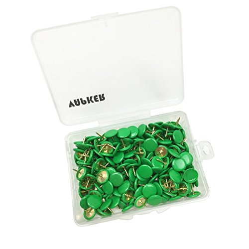 VAPKER 200 PCS Thumb Tacks Green Plastic Round Head Thumbtacks