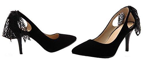 Pompe Weipoot Tirano Solidi Indicata Delle Nere Alti Donne Chiuso Tacchi scarpe Punta Smerigliati RprqwRv