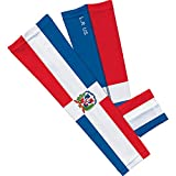 Sleefs 3089047 Dominican Republic Arm Sleeves, Red, White & Blue - Youth - Set of 2
