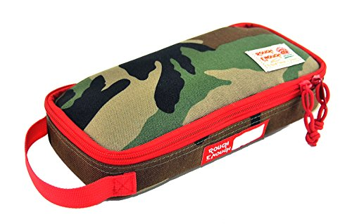 Rough Enough Multi-function Macbook Surface Accessories Tool Pouch /Big Pencil Case Holder Poouch (Camo)