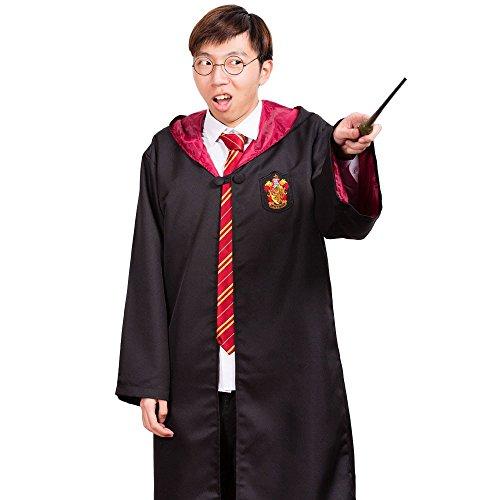 Harry Potter Gryffindor Slytherin Hufflepuff Ravenclaw-Robe Dress Motive für Erwachsene und Kinder, Größe: S, M, L, XL